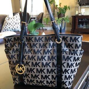 Michael Kors MK Signature Sequins Stripes Tote Bag